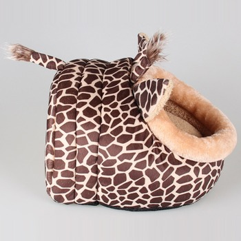 Soft Warm Dog House Leopard Pet Sleeping Bag House for Small Medium Dog Cats Pet Supplies Cat Products S/M/L 4