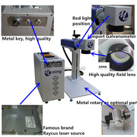MINGLAN 10W 20W 30W 50W Engrave Dog Tag And Metal Jewelry Portable Fiber Laser Marking Machine