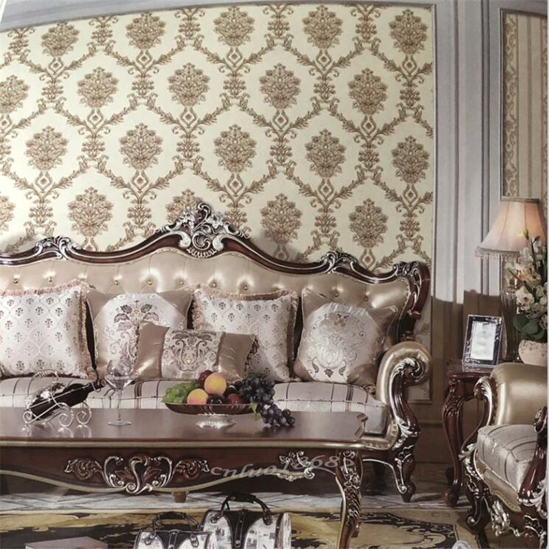 High End Decorative Living Room European Style Luxury: Beibehang High End Luxury European Style Wallpaper Living