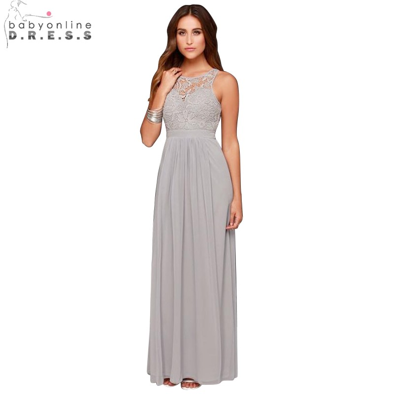 Light grey bridesmaid dresses reviews online shopping for Light grey wedding dress