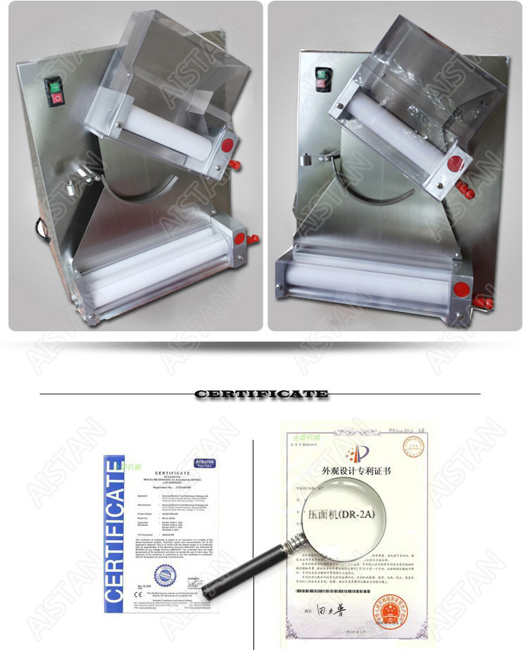 DR2A electric commercial stainless steel pizza dough roller/dough sheeter machine/dough press machine 4