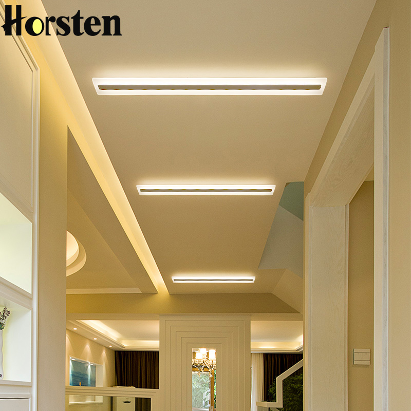 Horsten Modern Rectangular LED Ceiling Lights Lamp For Hallway Corridor Living Room Bedroom 3 Color Changeable Home Lighting smart bulb e27 7w led bulb energy saving lamp color changeable smart bulb led lighting for iphone android home bedroom lighitng
