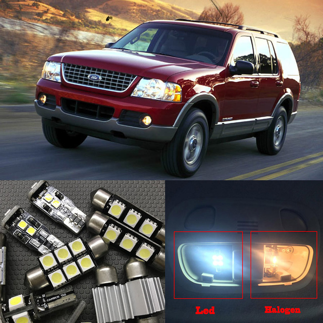 Pcs White LED Light Bulbs Interior Package Kit For Ford Explorer - 2002 explorer