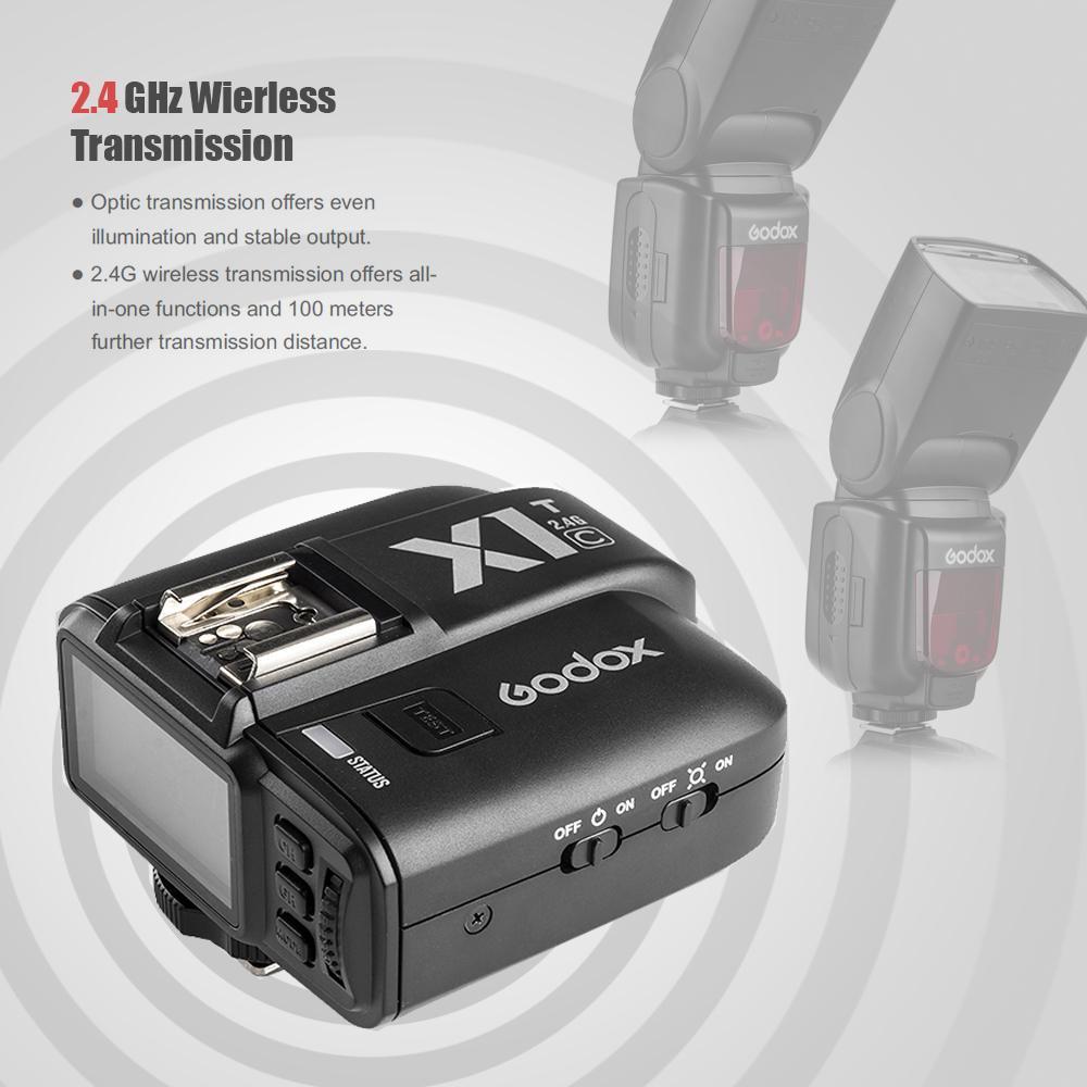 Godox X1T-C TTL 2.4G Wireless Flash Light Trigger For Canon EOS DSLR 6D 7D 60D 650D 700D 5DIII TT685C Speedlite