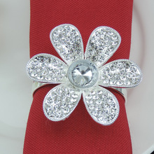 5PCS metal napkin buckle alloy flower ring mat towel circle home model room decoration