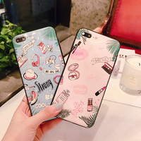 Summer Style Lipstick Patterns Cases For IPhone 6 Case For Apple Iphone 7 Plus Emboss Back