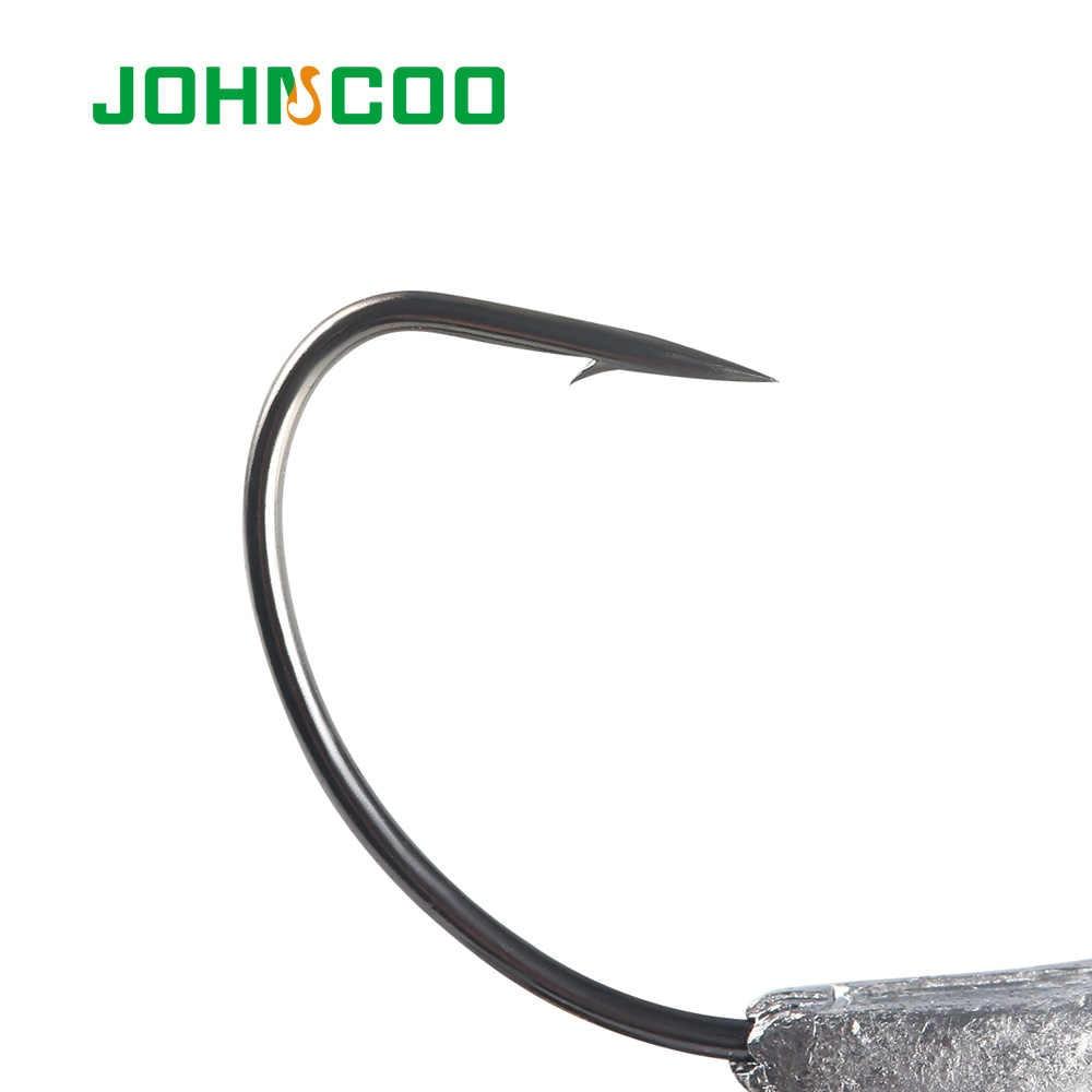 4 قطعة صنارة صيد إزاحة من juncoo صنارة لف مرجيحة من الرصاص مع صنارة طعوم لينة للملعقة إضافة خطاف دودة للوزن الرصاص