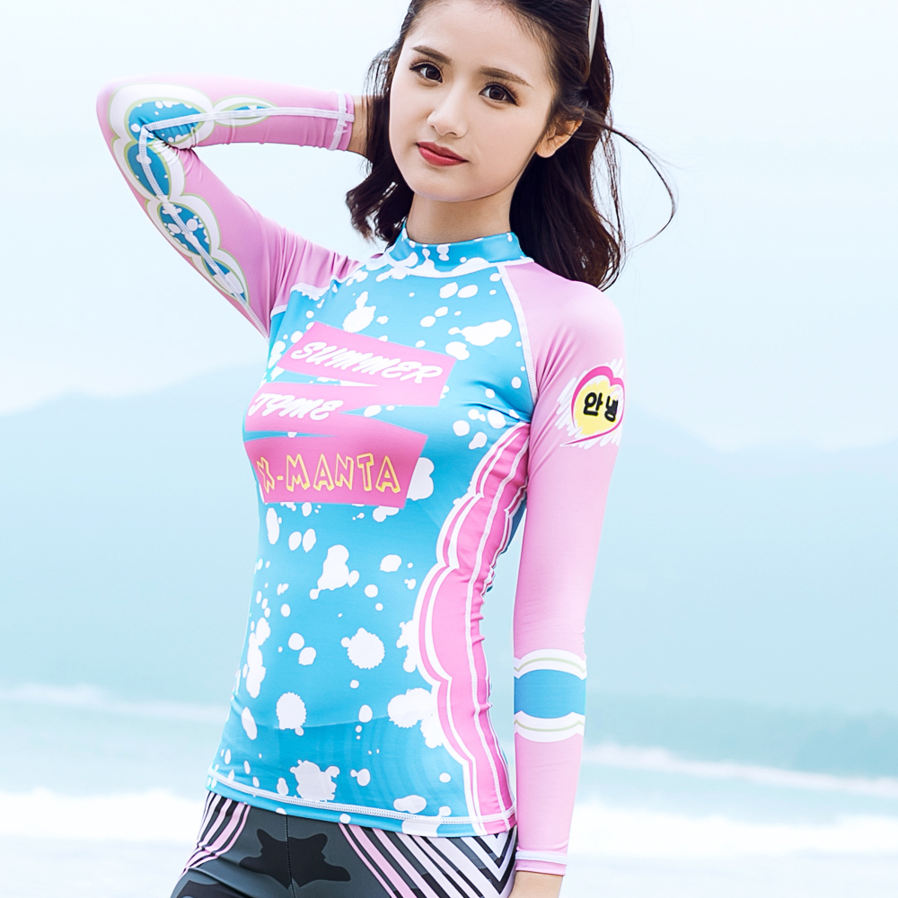 0621f6ddbb Dive Sail Women Rash Guard Suit Swimwear Long Sleeve Swimsuit Swim Shirts  quick dry-in Rash Guard from Sports   Entertainment on Aliexpress.com