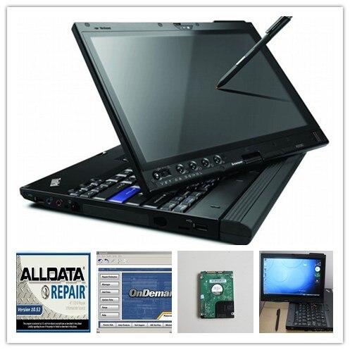 Réparation alldata version installée alldata 10.53 et mitchell sur demande logiciel automatique atsg avec ordinateur portable x200t disque dur 1000 gb