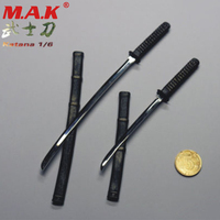 1:6 scale WOLFKING WK88002 Katana sword model toy for 12'' action figure for soldier warrior Japan Ronin