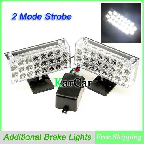 1 пара Универсальный режим 2 22 LED Строб тормозные огни дневного света, 12В 5050 SMD автомобиля внешний свет