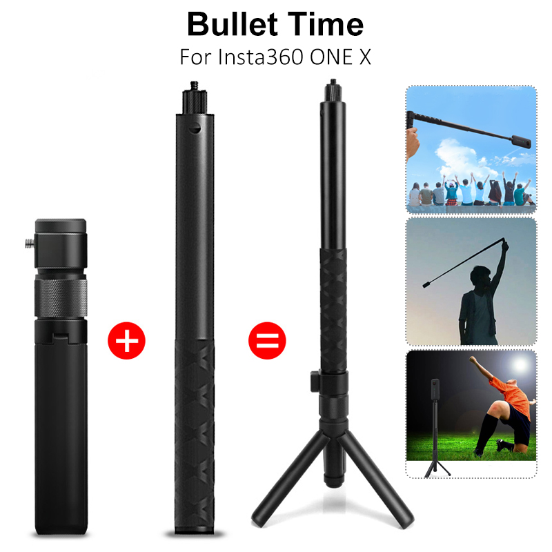 Black Lightweight Flexible Extended Tripod Stand for Insta360 ONE X//ONE//EVO