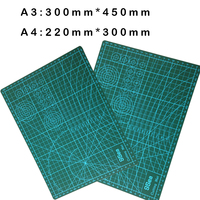 1 Pcs A3 Or A2 Pvc Rectangle Grid Lines Self Healing Cutting Mat Tool Fabric Leather