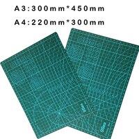 1 יחידות A3 או A2 Pvc עור בד קווי רשת כלי ריפוי עצמי חיתוך מחצלת מלבן נייר קרפט DIY tools