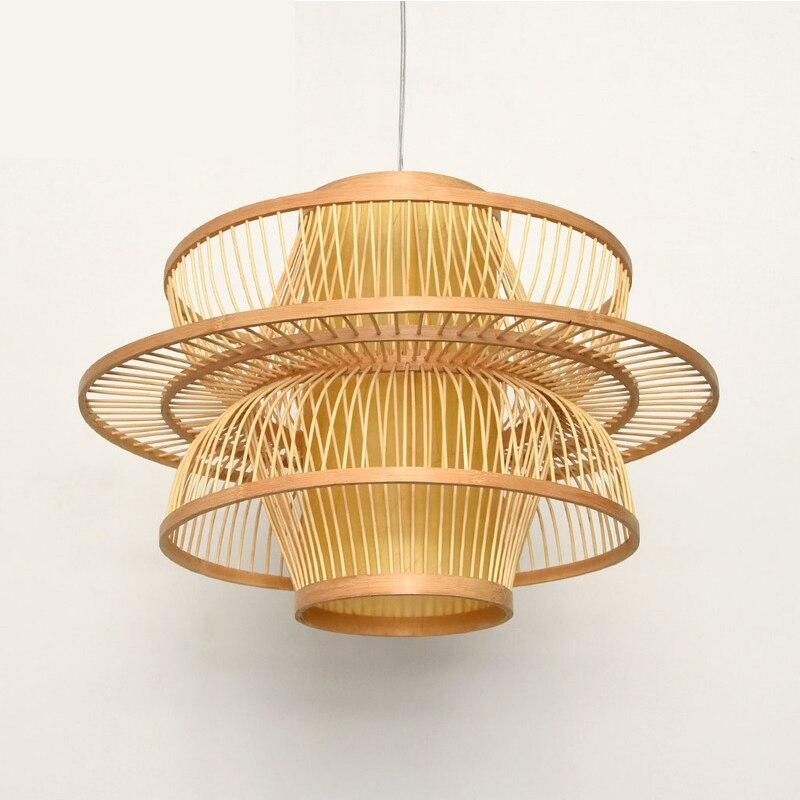 chinese stijl rustieke lantaarn bamboe rotan gebreide klassieke