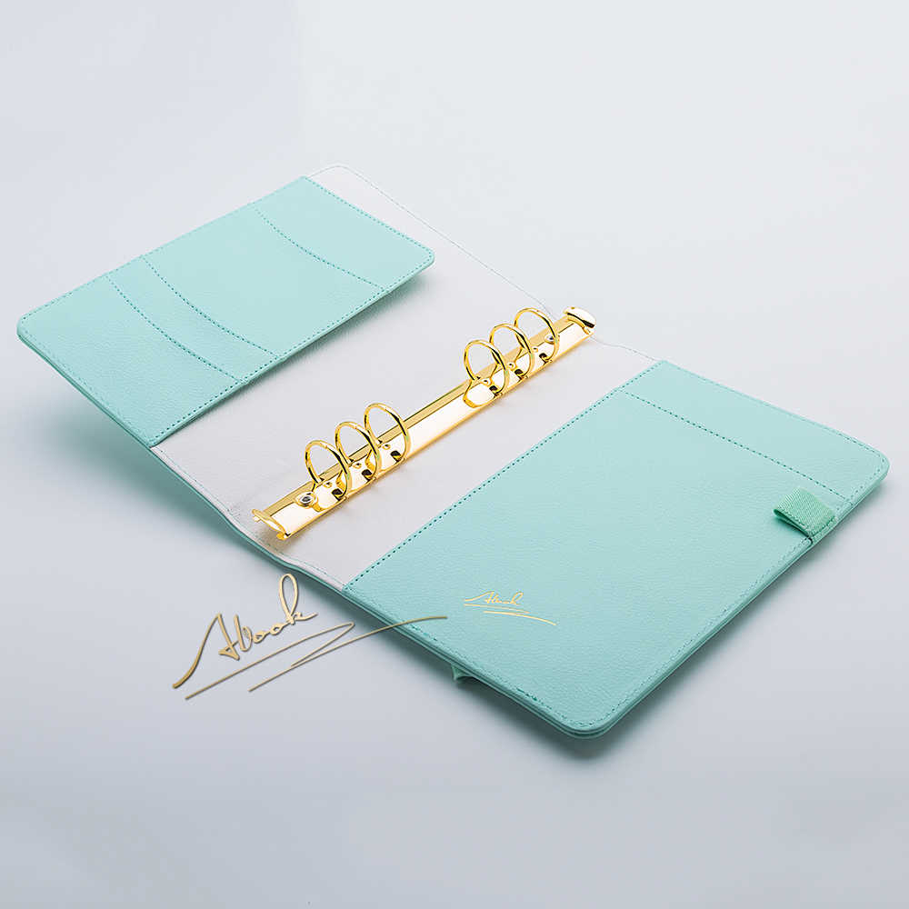 Abook frete grátis a6 caderno hortelã agenda planejador de ouro kawaii diy decoração material de escritório artigos de papelaria atacado organizador