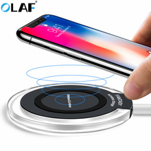 Олаф Беспроводной Зарядное устройство для iphone 8/X/8 10 Вт QI быстро Беспроводной зарядного устройства для Samsung galaxy S8/S7/S6 Edge/Note 8 Lumia 920