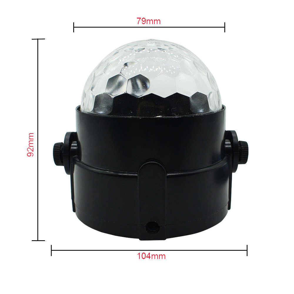 ZINUO Mini 3W LED stage light with wireless remote AC85-265V Crystal Disco light for Party/KTV/Bar DA