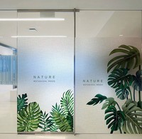 Customized size windows Glass Film Door Stickers Static Cling Privacy Window Films bathroom home decor banana leave