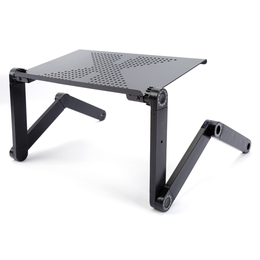 Black Pink Computer Desk Portable Adjustable Foldable Laptop Notebook Lap PC Folding Desk Table Vented Stand Bed Tray C137 drop shipping practical portable adjustable foldable laptop notebook folding desk table vented stand bed tray for bed couch lawn