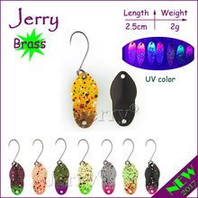Jerry 2g micro fishing spoon lake trout lures spinner bait ultralight light fishing lures