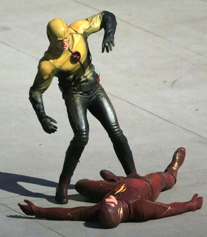 MANLUYUNXIAO Hot Series Flash Costume Reverse Flash Cosplay Costume Halloween Costumes For Men Custom Made Free Shipping