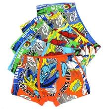 10 Pcs/Lot Boys Boxer Shorts Children Cotton Underwear Cartoon Spiderman Underpants Kids Comfortable Cool Panties Fashion