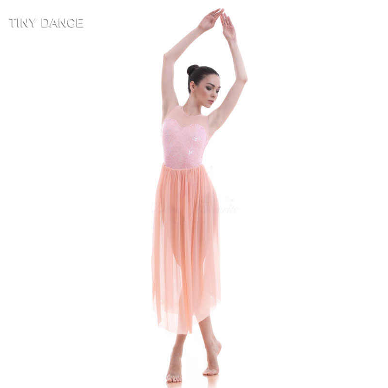 b700d2acf6 Detail Feedback Questions about Top Quality Girls Sequin Dress Ballet Dance  Lyrical Dress Women Stage Costumes Contemporary Dance Long Mesh Dress 16031  on ...