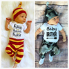 Mama S Boy Letter Printed White Long Sleeves Green Forest Pants Baby Boys Girls Sets