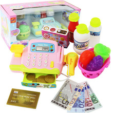 Children's role-playing toy simulation supermarket cash regi