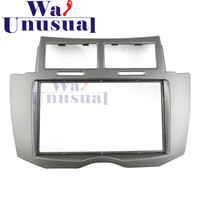 2 DIN Top Quality Car Radio Fascia Panel for Toyota Yaris 2011 Stereo Dash CD Facia Trim Installation Kit