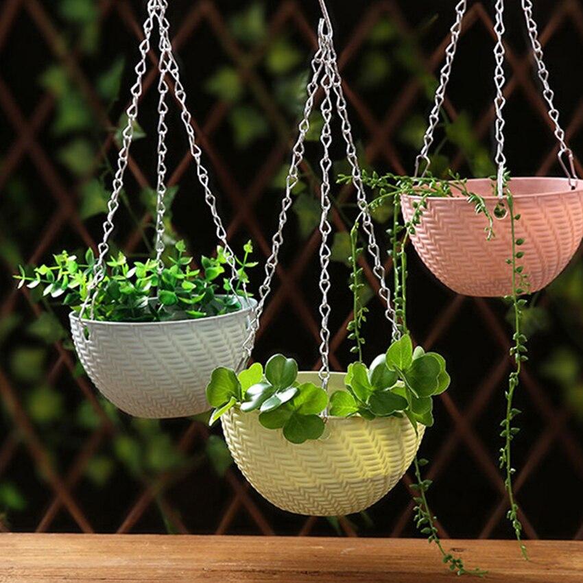 Tanaman Plastik Gantungan Rantai Keranjang Dengan Hook Outdoor Indoor Wall Hanging Planter Keranjang Bunga Pot Pemegang Rumah Dekorasi Hadiah Menggantung Keranjang Aliexpress