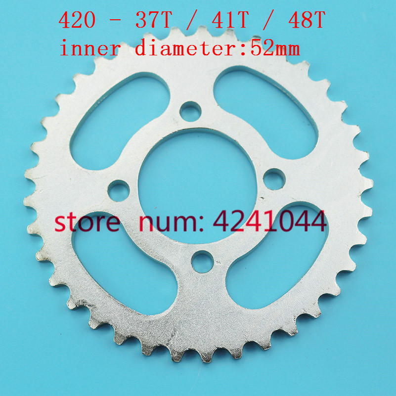 XLJOY 420 37 Tooth 52mm Rear Chain Sprocket for Motorcycle ATV Quad Pit Dirt Bike