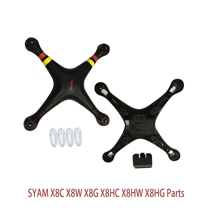 SYMA X8 X8C X8W X8G Black Main Body shell Cover Quadcopter Fuselage Drone Spare Parts 2.4G 4CH 6-Axis RC Helicopter wholesale syma x5sw rc quadcopter drone spare parts main body shell cover 5pcs