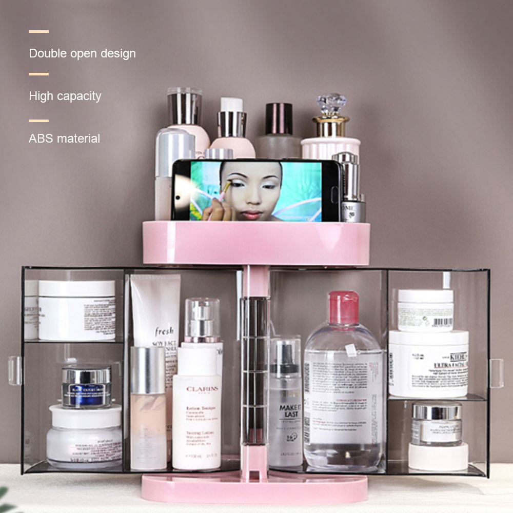 Image 5 - Hoomall New Clear Acrylic Makeup Storage Case Nail Polish Rack Lipstick Cosmetic Storage box Holder Makeup Brush Organizer-in Storage Boxes & Bins from Home & Garden