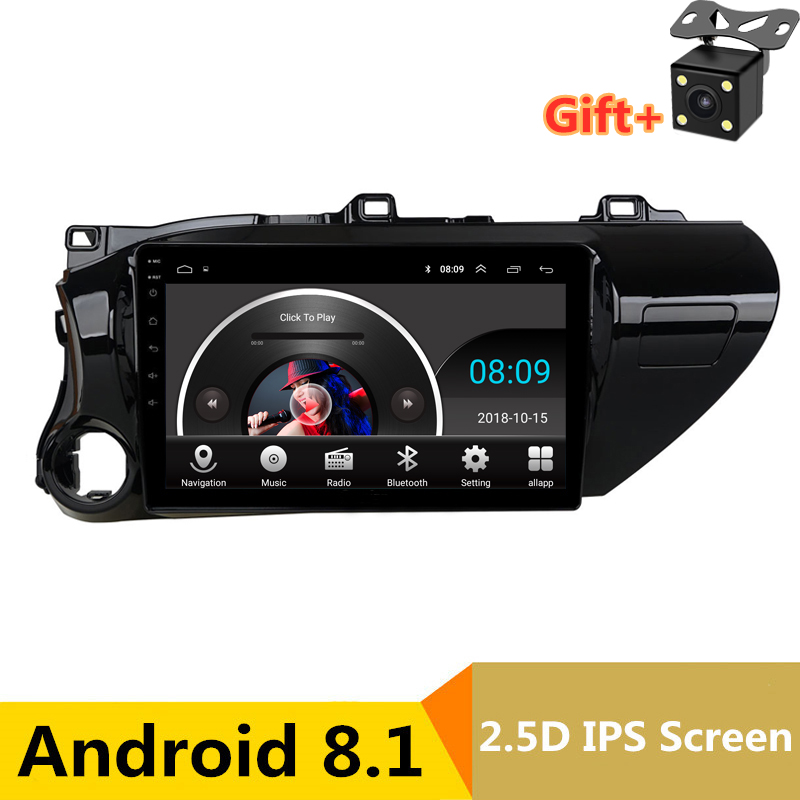 10 2.5D IPS Android 8.1 Car DVD Multimedia Player GPS For Toyota Hilux 2016 2017  audio car radio stereo navigation10 2.5D IPS Android 8.1 Car DVD Multimedia Player GPS For Toyota Hilux 2016 2017  audio car radio stereo navigation