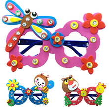 1 PCS Kids handmade DIY Eva glasses personalized decoration puzzle cartoon glasses educational toys for children Gift W020