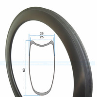 7 TIGER Carbon Rims 700C Road Bike 20/30/38/45/50/55/60/75/88 mm Depth 25mm Width Bicycle Rims Carbon Wheels tubular UD