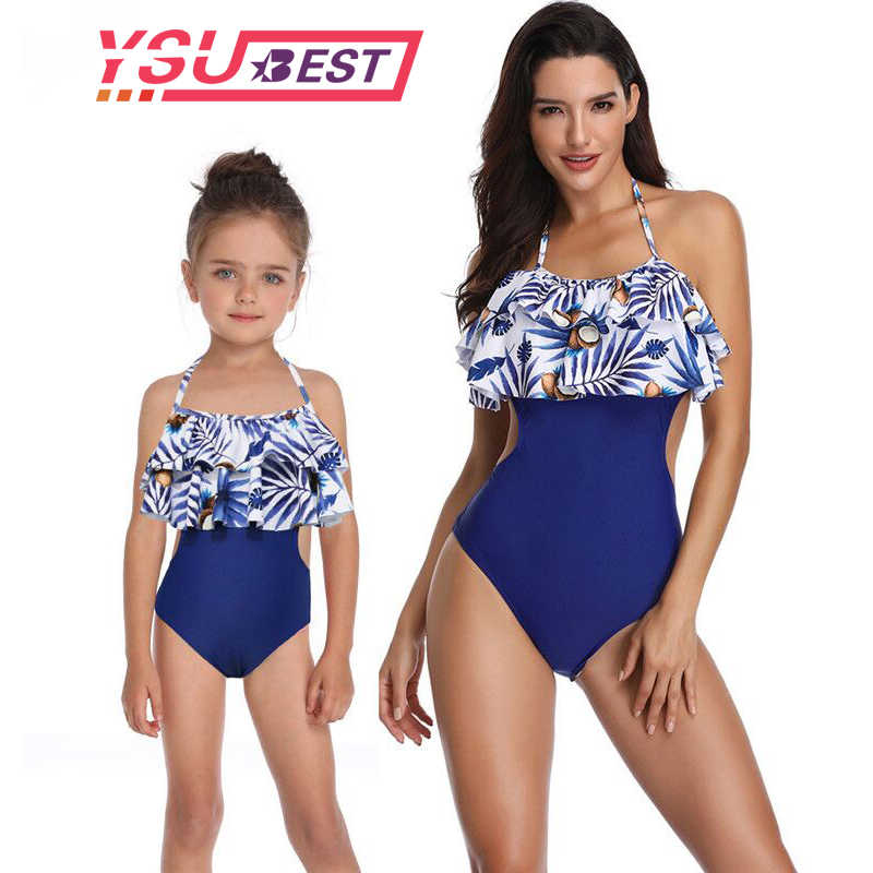 cc41af69bb7 Mother Daughter Swimsuit One Piece Mom and Daughter Bathing Suit Swimwear  Family Matching Clothes Family Look