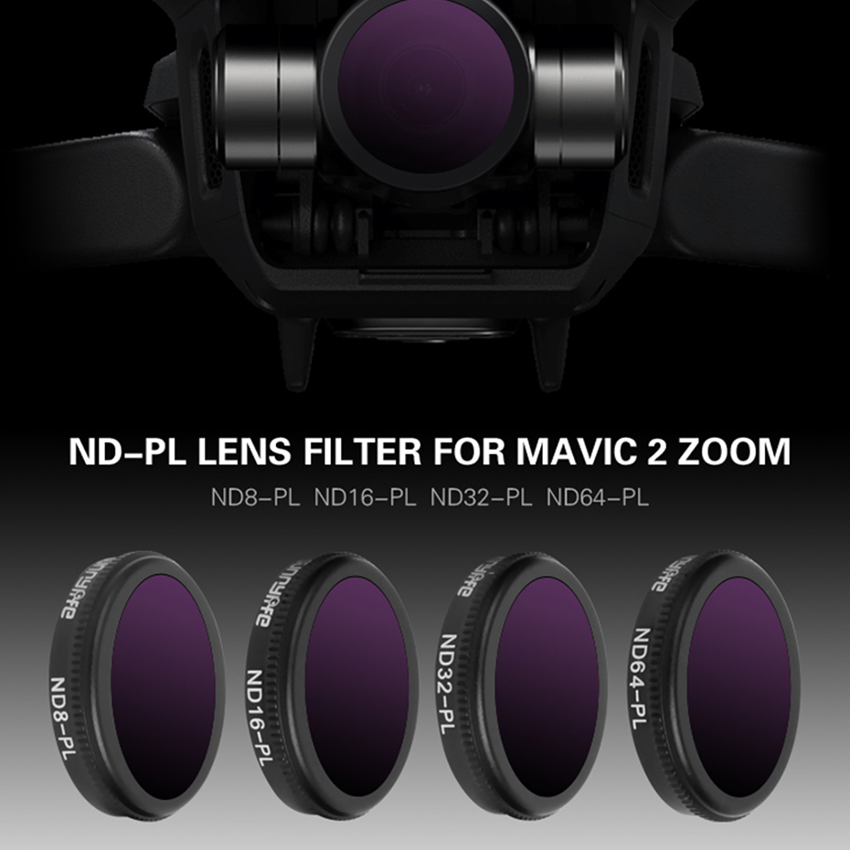 Drone Filter ND8/ND16/ND32 ND64-PL Neutral Density With Polarizing Filters Set For DJI Mavic 2 Zoom Optical Glass Lens Accessory