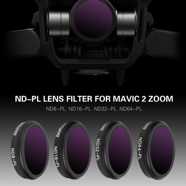 Filtre Drone ND8/ND16/ND32 ND64 PL densité neutre avec filtres polarisants ensemble pour objectif en verre optique DJI Mavic 2 Zoom accessoire