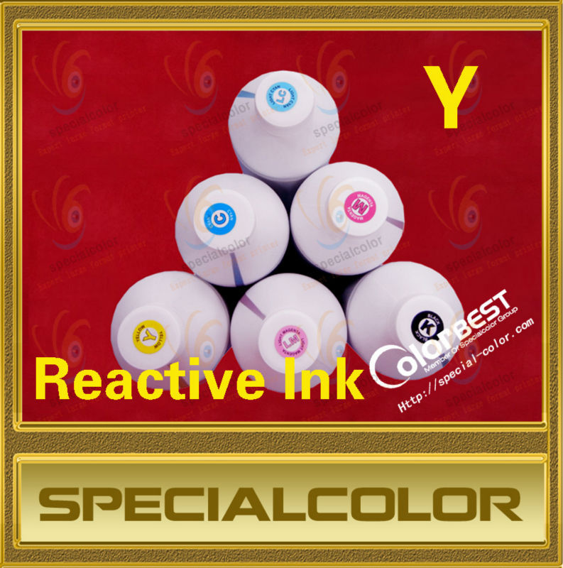 Factory Direct Color Yellow Digital Textile Ink Garment Ink Reactive Ink in Bottle fedex free shipping 6colors textile reactive ink digital printer reactive ink 1000ml