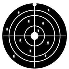 4*4 Inch Splatter Gun Target White Loop Line Black Shooting Target Paper High Quality for Shooting Practice and Entertainment