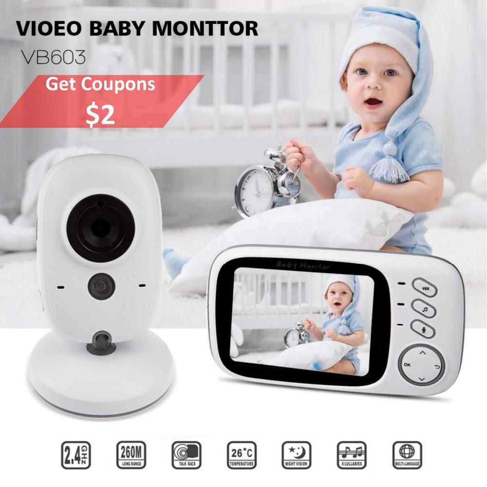 VB603 Детские спальные монитор младенца Камера монитор с Беспроводной NightVison Камера видео Видеоняни и радионяни радио няня 2 пути аудио говорить
