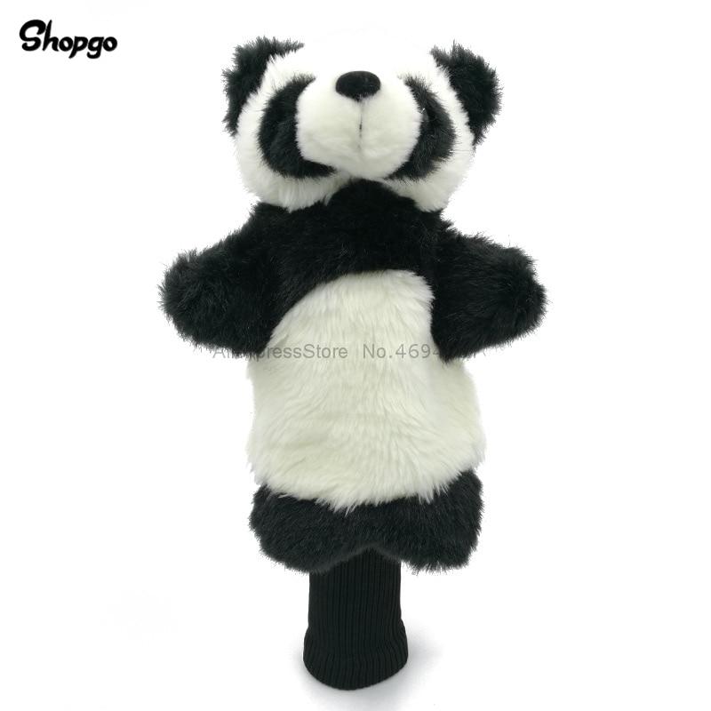 China Panda Bearcat Golf Head Cover Fairway Woods Hybrid Animal Golf Clubs Headcover & Long Sleeve Mascot Novelty Cute Gift