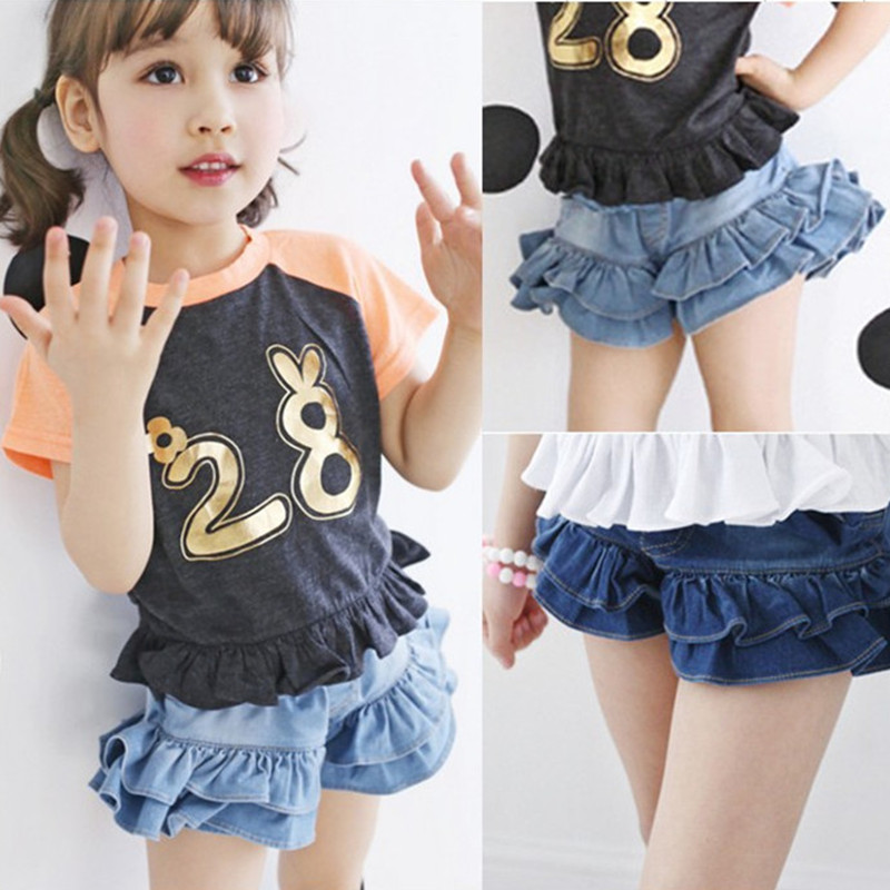 2019 Summer Girls Jeans Toddler Trousers Spodenki Denim Kids   Short   Children Clothing Baby Jeans Girls   Shorts   Bottom Clothes 2-9T
