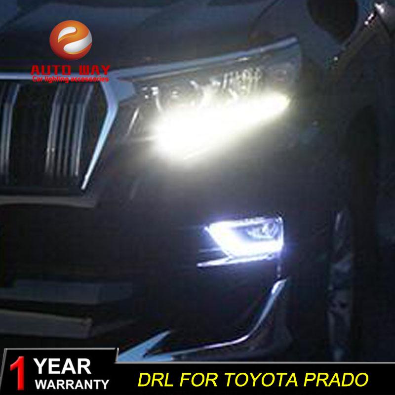 Free shipping 12V 6000k LED DRL Daytime running light case for Toyota prado LC200 2018 fog