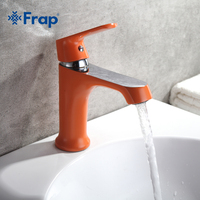 Frap Fixer Faucets Home Bathroom Faucet Basin Mixer Tap Cold Hot Water Taps Multi Color Handle