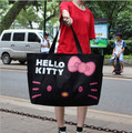 50*38cm Kawaii Hello Kitty Foldable Large Capacity Canvas Shoulder Bag Nappy Bags