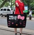 50*38cm Kawaii Hello Kitty Foldable Large Capacity Canvas Shoulder Bag Nappy Bags